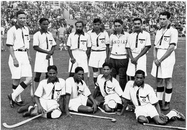 The Indian Hockey team at the 1936 Berlin Olympics